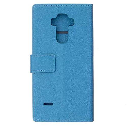 Solid Color Kas Textur Muster Leder Schutzhülle Case Horizontal Flip Stand Case mit Karten Slots für LG G Vista 2 ( Color : Purple , Size : LG G Vista 2 ) Blue
