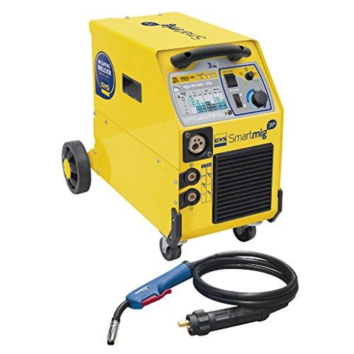 GYS Schutzgasschweißgerät 170 A, einphasig 230 V, gelb, Smartmig 3P