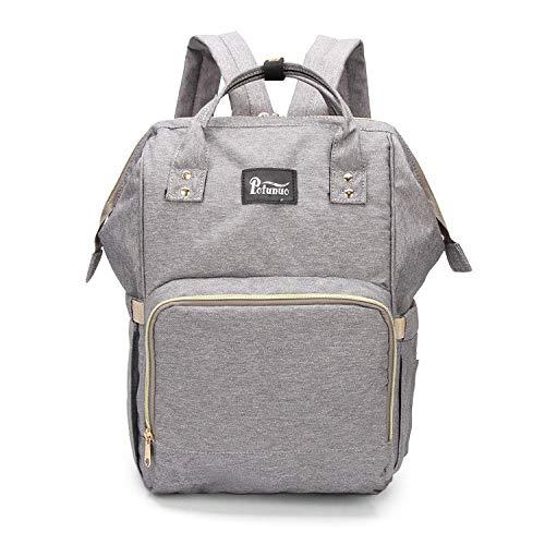 Convertible Schulter Tasche (YUGOOS Wickeltaschen für die Babypflege, multifunktionale Mumientasche, aus der Schulter Baby Wickeltasche, Silbergrau, Baby Windel Windelrucksack)