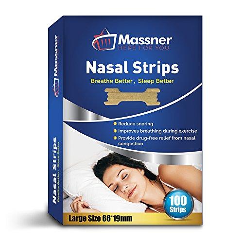 Massner Nasenpflaster Breit, 100er Pack, Schnarch-Stop zur schnellen Linderung bei Schnarchproblemen Stoppt das Schnarchen sofort, sorgt für einen ruhigen Schlaf