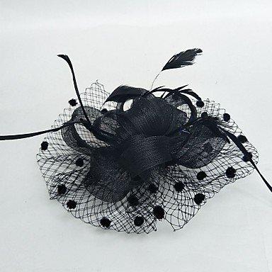 zheENfu Women's Feder-/Tüll/Chiffon Headpiece-Wedding/Besondere Anlässe Fascinators 1 Stück, schwarz Kopfschmuck