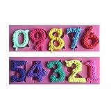 LYNCH 0-9 10 Zahlen 3D-Silikon-Form mit Stick-Loch-Kuchen,der Werkzeuge,Rosa