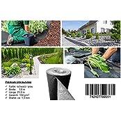 Qualitätsvlies trading-point24 Denise Richter 150 g/m² - Reißfestes Premium Unkrautvlies bzw. Unkrautschutzvlies: (L) 25 m x (B) 1,0 m x (H) 1,3 mm