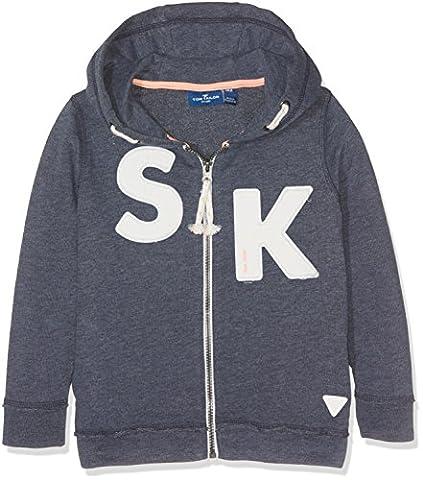 TOM TAILOR Kids Jungen Sweatshirt Hoody Sweatshirtjacket, Blau (Real Navy blue1 6975), 98 (Herstellergröße: