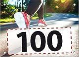 100 Startnummern Walking, Papier classic-race, Format 20 x 14,5 cm (ca. DIN A5), nummeriert von Nummer 1