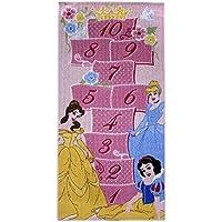 Tappeto da pavimento Disney con disegno per il gioco della campana, Poliammide, Rose, 80 x 160 cm