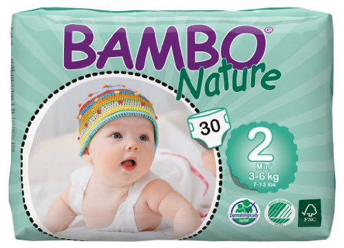 Lot de 180 couches BAMBO NATURE T2 Mini 3-6kg