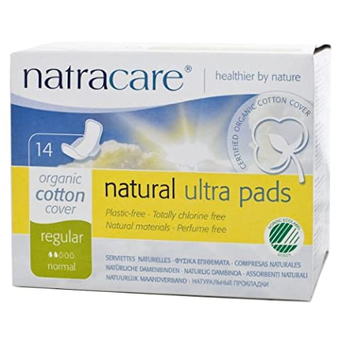 Natracare Organic And Natural Ultra Pads with Wings Regular - 2 x Packs of 14 (28 Pads)