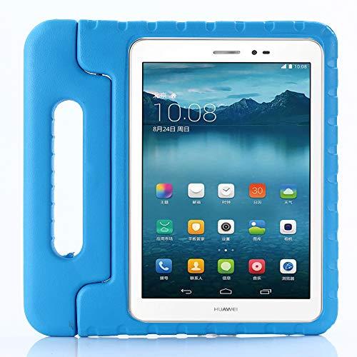 ZiHang Funda Infantil Huawei MediaPad T3 10, Carcasa Niño Antigolpes con Asa Convertible Tapa de Soporte, Funda Bebé Ligera para Huawei MediaPad T3 10 (Azul)