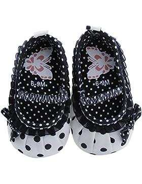 Hongfei Patrón de punto del niño Zapatos Bowknot para niñas