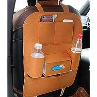 itscominghome - Bolsa organizadora multifuncional para asiento trasero de coche, bandeja de almacenamiento para botellas de coche o café