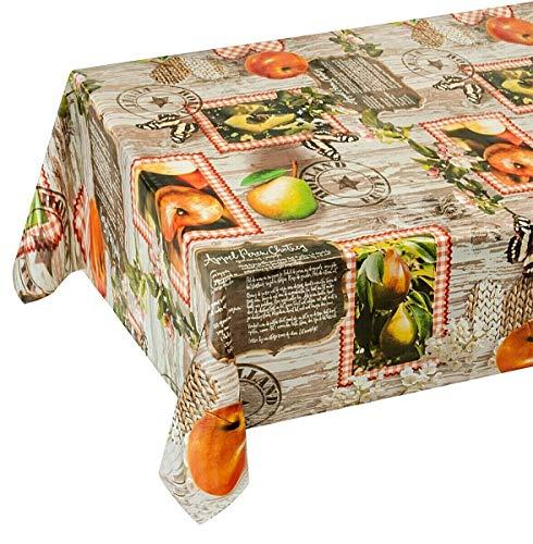 Emmevi tovaglia antimacchia cerata frutta plastificata retro felpato 12 misure copri tavolo cucina su misura mod.favola 285 140x160cm