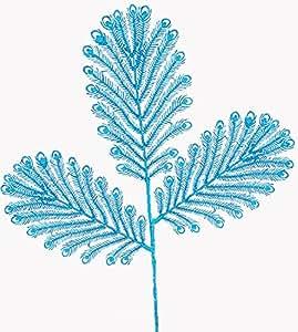 66 cm (26 pouces) de Mica Bleu Plume de Paon en strass