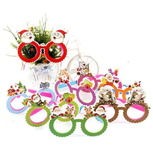 hten Brillengestell Kunststoff Cartoon Muster Glitter Antler Applique LED Flashing Halloween Party Dekoration Kostüm Geschenk D # ()
