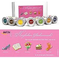 Geschenkbox für Frauen von Jalall D'or mit 7 Dosen | edles Geschenkset Frau mit PREMIUM Nüssen & Trockenfrüchten | Geburtstagsgeschenk Frauen | Geschenk Frauen