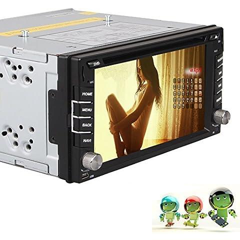 Quad Core Pure Android 4.4 Car DVD Player Car Tablet PC doppio 2din 6,2 pollici touchscreen capacitivo GPS Sistema di navigazione auto stereo radio ricevitore Bluetooth Wifi Specchio link - Modulo Di Controllo Staffa