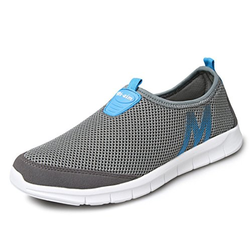 Men's Mesh Breathable Ultral Light Running Shoes Dark Gray