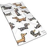 Wen-shop Toalla de Mano Absorbente de Dibujo para Perros Toalla Facial de poliéster Suave Toalla Multiusos para baño, Hotel, Gimnasio y SPA