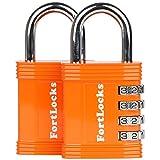 Fortlocks Candado De Combinación - Candado De 4 Dígitos Para Taquillas De Escuela Y Gimnasio, Exterior, Vallas, Pasadores, Almacenes, Carcasas, Cajas