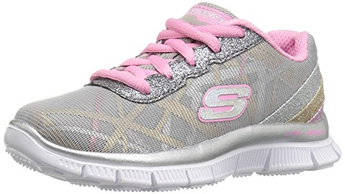1 Größe Skechers Schuhe Mädchen (Skechers Mädchen Appeal-Gimme Glimmer Sneaker, Grau (GYMT), 38 EU)