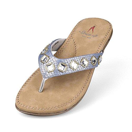 WANGXN Womens Flip-Flops Sandales de plage Chaussons décontractés Mode Protection de l'environnement 8255 silver