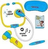alles-meine.de GmbH 5 tlg. Set: Doktorset / Arzt Set -  Licht & Sound  - Stethoskop - Doktorspie..