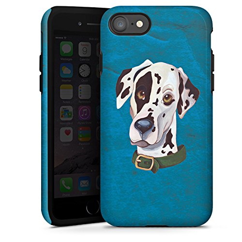 Apple iPhone 5 Hülle Case Handyhülle Dalmatiner Hund Dog Tough Case glänzend