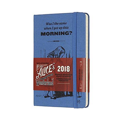 Moleskine Agenda Settimanale Alice, 12 Mesi, con Spazio per Note, Tascabile, Blu Oltremare