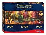 Noris Spiele 606038016 - Triptychon Puzzle Deluxe - Indian Summer, 2000 Teile