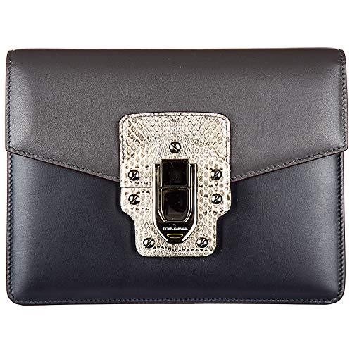 c188f41f2a Dolce & Gabbana sac à l'épaule femme en cuir lucia gris