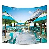 Blau Stühle Wandteppichen indischen Mandala Tapisserie Dekorative Wohnheim Wandteppichen Beach Picknick Tabelle Hippie Tapisserie Wand, Bohemian, multi, 60 x 80