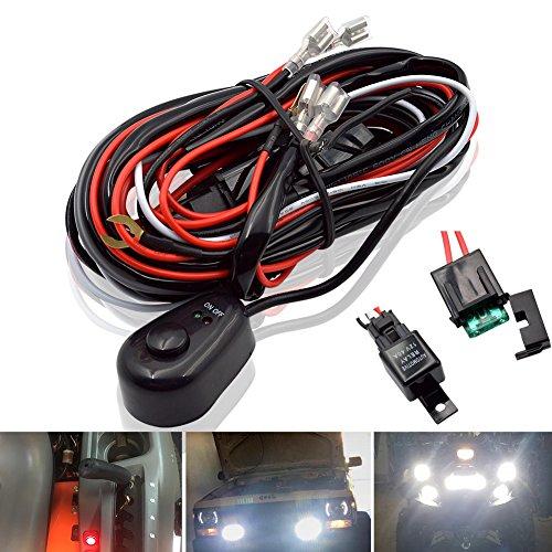 Cableado del Barra de luces del LED de Trabajo Interruptor Encendido / Apagado 40A de Faro Antiniebla Para ATV SUV y Camión ( 2 plomo 12 pies)