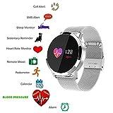 Montre intelligente bluetooth TKSTAR Smartwatch sport smart bracelet connectée etanche fitness Trackers d'activité avec Écran tactile pour iphone ios et Andoird Samsung Huawei etc pour femme homme