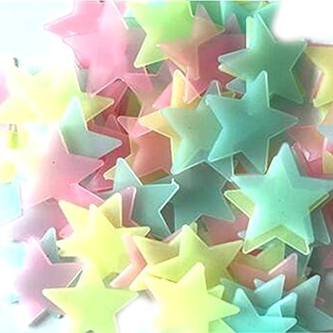 Stickers Muraux Étoiles Lumineux Autocollant Pour Chambre Décor