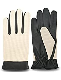 MEN'S SOFT LEATHER GLOVES MOTORBIKE DRIVING CHAUFFEUR DRESS FASHION VINTAGE LEATHER GLOVES