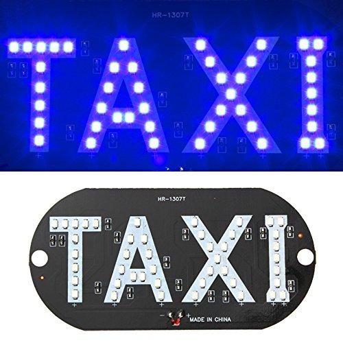Voiture Taxi lumière LED pare-brise Cab Panneau de voiture lumière DC 12 V Bleu