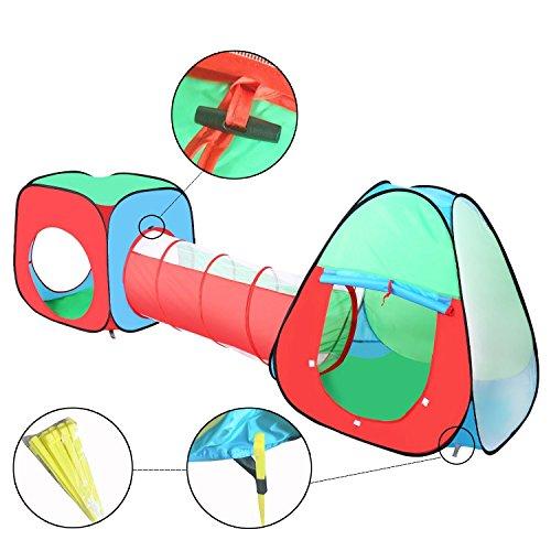 Travel Dream Faltbare Pop-up Kinder Kleinkind Spielzelt für Jungen, Mädchen, Babys Kleinkinder Indoor-und Outdoor-Einsatz mit Tunnel und Ball Pit und Zippered Storage Bag