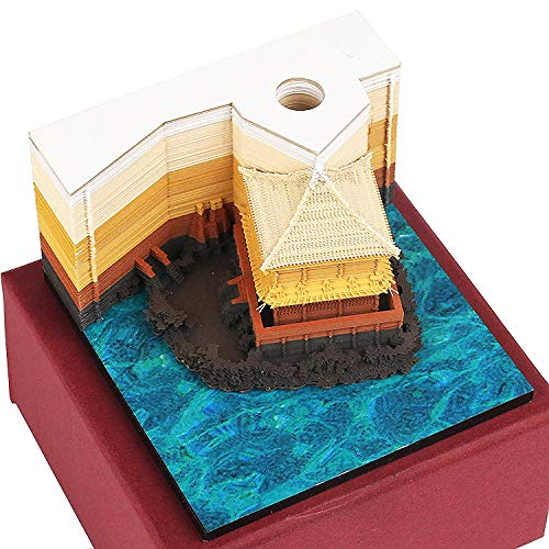 DIY Art Block 3D Haftnotizen Praktische Aufkleber Papier Karten Basteln Japan Kreative Post Notizen Memo Pads Neuheit Notizpapier Attic Gold
