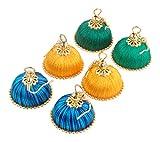 Krishna Silk Thread Jhumki Earrings for ...