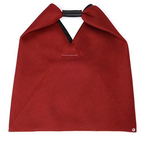 MM6 Maison Margiela Shopper rubinrotes perforiertes Gewebe -