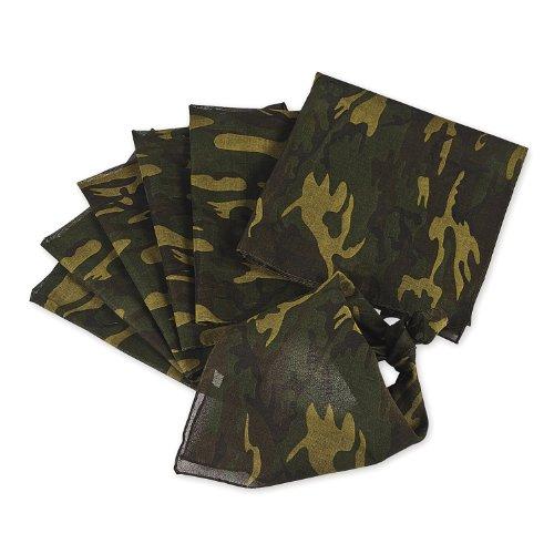 Bandana Kopftuch im Army Military Bundeswehr Design Camouflage 12 Stück Palandi® (Bandana Stoff)