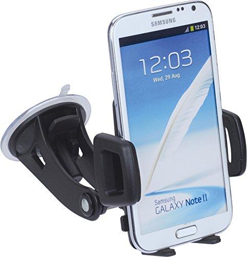 hr-imotion Universelle Kompakte Halterungslösung für alle Phablets & Smartphones zwischen 58mm & 85mm Breite [5 Jahre Garantie   Made in Germany   360 Grad drehbar   vibrationsfrei] - 22010201