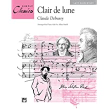"""Clair de lune (from """"Suite Bergamasque""""): Late Elementary Piano Solo"""