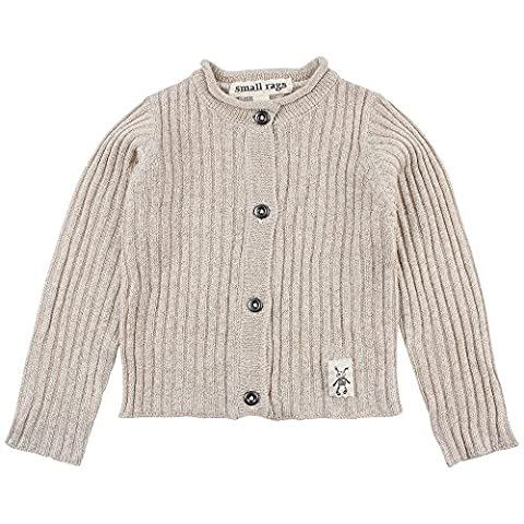 Small Rags Baby-Mädchen Strickjacke Fanny Knit Cardigan Beige (Pink Tint 20-61), 80