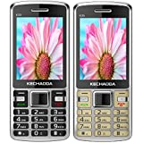 KECHAODA K35 (Combo Of Two MOBILES) Basic Feature Mobile Phone With Dual SIM, 2.4 Inch Display (Black+Gold)