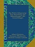 Das Relativit?tsprinzip: Eine Sammlung Von Abhandlungen, Mit Anmerkungen