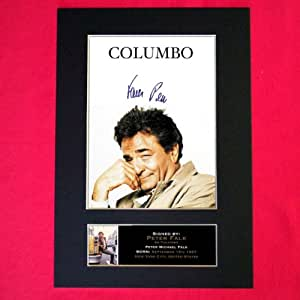 COLUMBO Peter Falk Signed Autograph A4 (210x297mm) Mounted Photo Reproduction Quality Print