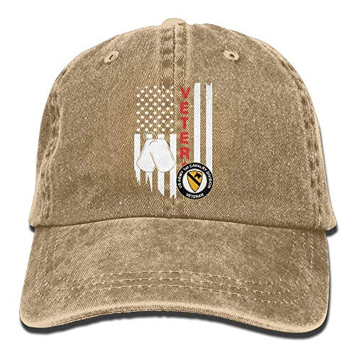 Voxpkrs US Flag Army Veteran 1st Cavalry Division Unisex Baseball Cap Cowboy Hat Dad Hats Trucker Hat ABCDE09523 - Baseball-cap Boston Kleinkind