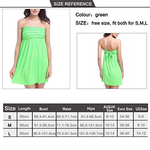 SiDiOU Group Blütenblatt Strand Kleider für Frauen eingewickelt Brust Rock sexy Seaside Rock Urlaub Kleid Grün