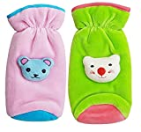 #4: MY NEWBORN Baby Feeding Bottle Covers with Attractive Cartoon (Assorted Colors) (Pink-Green)